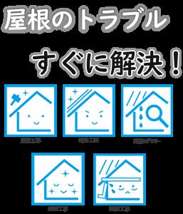 屋根のトラブル